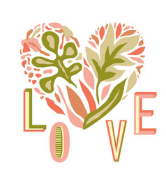 love composition with heart vector image