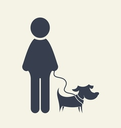 man icon with dog umbrella2 resize vector image