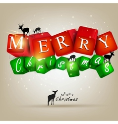 merry christmas and happy new year 2012 background vector image
