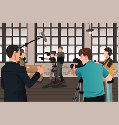 movie production scene vector image