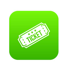 movie ticket icon digital green vector image
