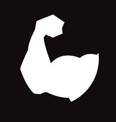 Muscular arm vector