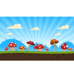 Mushrooms Game Background vector image