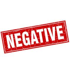 Negative square stamp vector