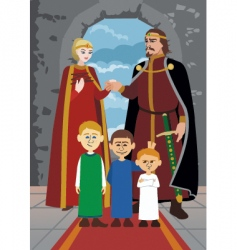 noble family vector image