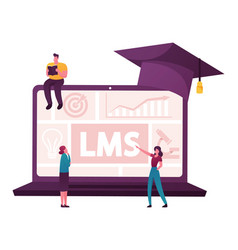 Online education learning management system vector