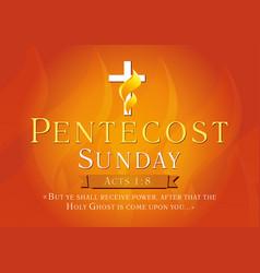 pentecost sunday sunrise card vector image