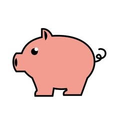 pigy savings flat icon vector image