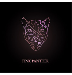 Pink panther logo design vector