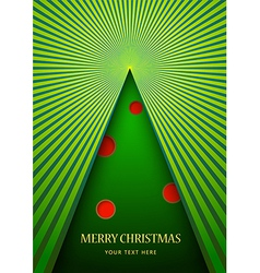 Postcard with Christmas tree vector image