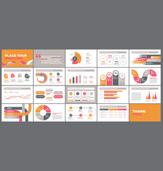 Presentation template design with infographic vector
