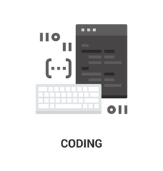 Program coding icon vector
