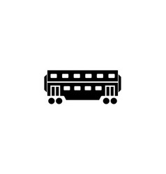 railway carriage solid icon navigation vector image