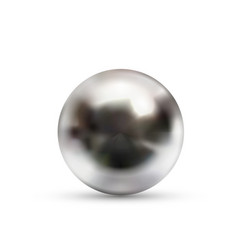 realistic glossy chromium ball with glares and vector image