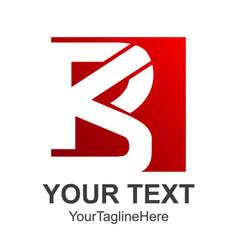 Red color letter b logo royal hotel premium vector