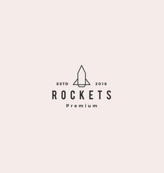 rocket icon logo line outline monoline vector image