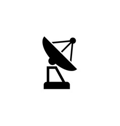 Satellite antenna flat icon vector