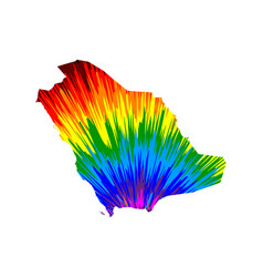 Saudi arabia - map is designed rainbow abstract vector