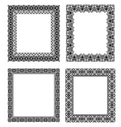 Set of black frame vector