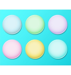 Set of cartoon glossy buttons for game or web vector image