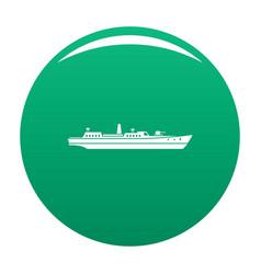 Ship combat icon green vector