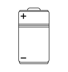 single battery icon image vector image