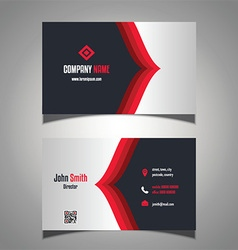 Stylish business card vector