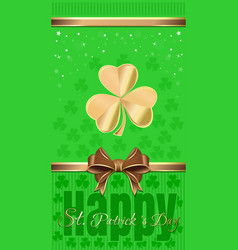 Template flyer for st patricks day vector