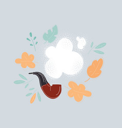 Tobacco pipe with tobaco vector