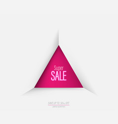 triangle geometric super sale template banner vector image