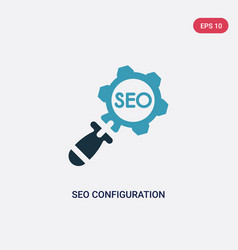 two color seo configuration icon from programming vector image