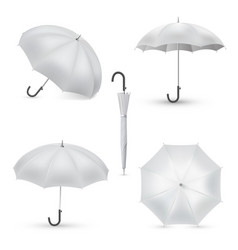 umbrella white rainy season accessory realistic vector image