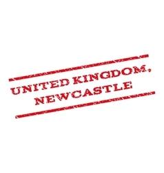 United Kingdom Newcastle Watermark Stamp vector