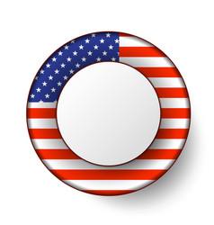 usa button flag vector image