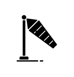 windsock black glyph icon vector image