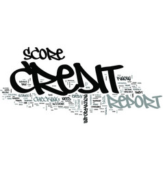 Z credit report and score text word cloud concept vector