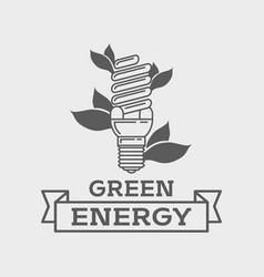 efficient fluorescent light bulb logo concept vector image