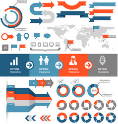Infographics and statistic elements and icons vector image vector image