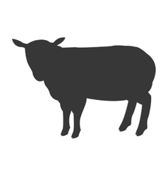 sheep silhouette icon vector image