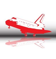 space shuttle landing vector image