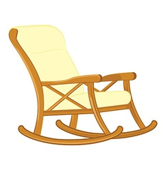 Wooden rocking chair vector image vector image
