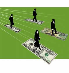 finance business people vector image vector image