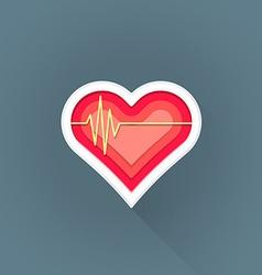 flat cardiac medicine symbol icon vector image