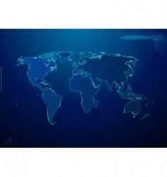 neon world vector image vector image