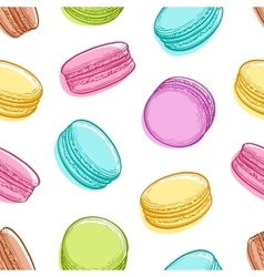 seamless pattern with macaroons vector image vector image
