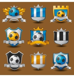 Soccer team emblems vector image vector image
