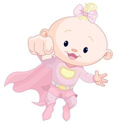 Super baby girl vector image vector image