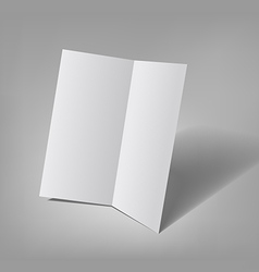 Bifold brochure template vector image