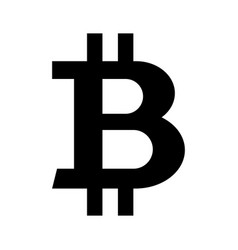 black bitcoin symbol vector image
