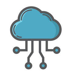 cloud computing filled outline icon seo vector image vector image